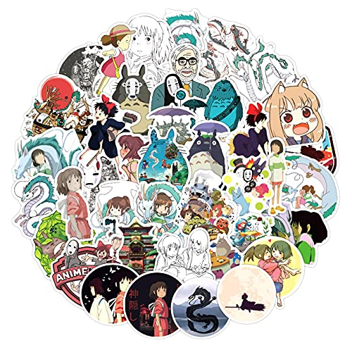 100/50 unidades/bolsa de Anime japonés Spirited Away, pegatinas para caja de regalo, marco de ordenador, frigorífico, monopatín, casco, 100 unidades, correo aleatorio B