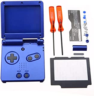 difcuyg5Ozw Console Housing Shell Case Screen Lens Screwdriver Kits Tool,Replacement Console Repairing Tolol for Nintendo GBA SP - Blue