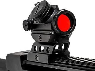 Evolution Optics Micro Red Dot Reflex Sight -2 MOA Red Dot Magnifier Sight - Auto Shutoff - Standard Picatinny Rail Ready to Equip - Riser for Co-Witness Reflex Sight - Red Dot Riser