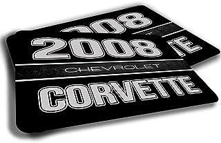 Brotherhood Compatible with 2008 Chevrolet Chevy Corvette Rubber Grip Non Skid Backing Rug Indoor Entryway Door Rug Mats Pack of 2