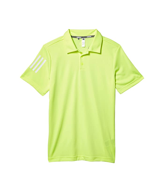 adidas Golf Kids  3-Stripes Polo Shirt (Little Kids/Big Kids) (Solar Yellow) Boys Clothing