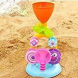 Bluelover Bebé Niños Desarrollo Playa Baño Puzzle Reloj Arena Noria Natación Remo Carro Juguete