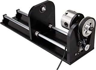 Iglobalbuy Irregular Rotary Engraving Axis for 50 60 W CO2 Laser Engraving Cutting Machine Rotary Attachment with 80mm Accessory 230mm Track (Rotary Engraving Axis)