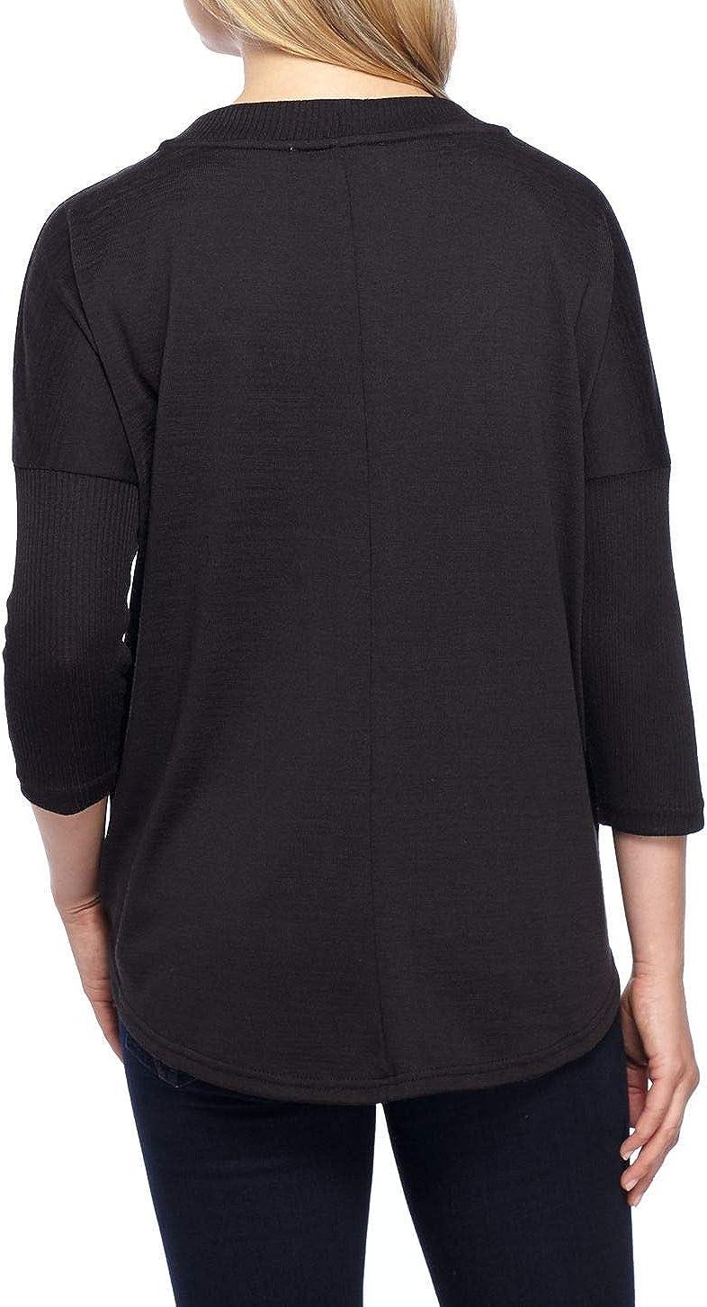 Gloria Vanderbilt Life Worx Womens 3//4 Sleeve Bridget Top