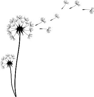 pusteblume schwarz weiß
