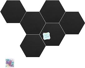Tikea Prikbord - Grote Memoborden Bulletin Board Pin Board Hexagon Felt Board Tegels Zelfklevend memobord met 15 drukpenne...
