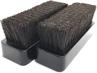 [kantof] 靴 ブラシ 2個 馬毛ブラシ 靴ブラシ 靴磨き 馬毛 財布 小物類 レザーケアに最適 高密度 コンパクト 設計 (2個セット)