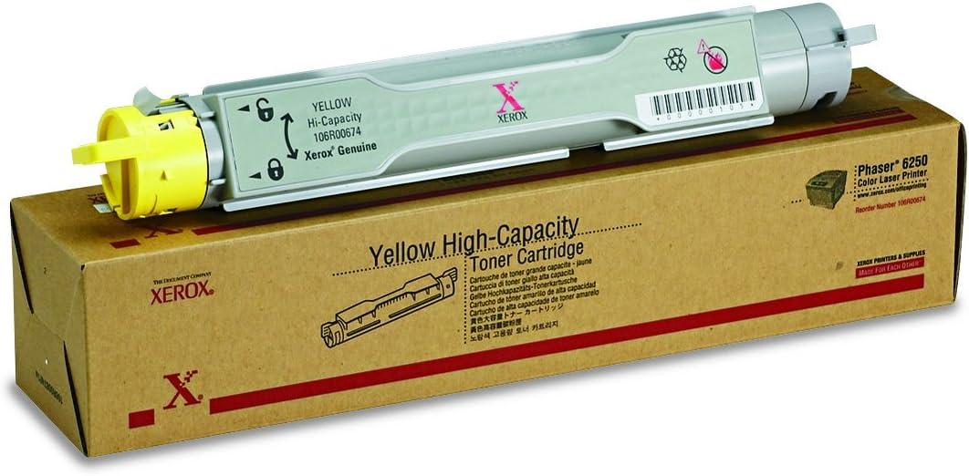 Genuine Xerox Yellow High Capacity Toner-Cartridge for the Phaser 6250, 106R00674