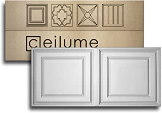 Ceilume 10 pc Stratford Ultra-Thin Feather-Light 2x4 Lay in Ceiling Tiles - for Use in 1