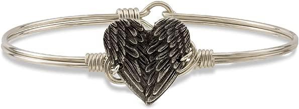 Luca + Danni Angel Wing Heart Bangle Bracelet for Women Made in USA