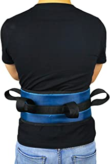 Fushida Medical Transfer Belt with 4 Handles, Lifting Sling with 680 Double PVC Belt, Secure Gait Belt for Limited Aids, Disabled Elderly, Adjustable Patient Lift Strap(Blue, FYH201)