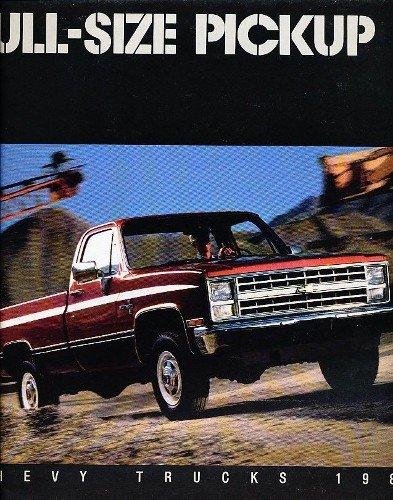 1987 CHEVY PICKUP TRUCK DEALERSHIP SALES BROCHURE - INCLUDES; Fleetside, Stepside, Chassis Cab, Crew Cab, Bonus, C 10, C 20, C 30, 2WD & 4WD, Gas & Diesel - ADVERTISMENT - LITERATURE - CHEVROLET 87