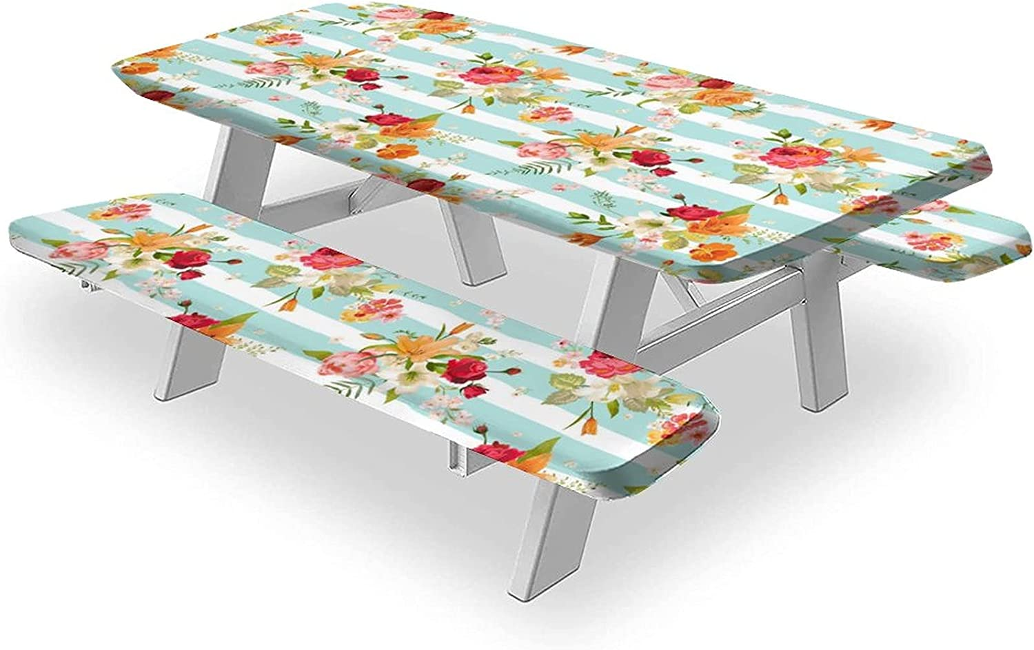 Lilies Tablecloths OFFicial 3-Piece Set Table Max 57% OFF Cloth Water and Lily Orchid