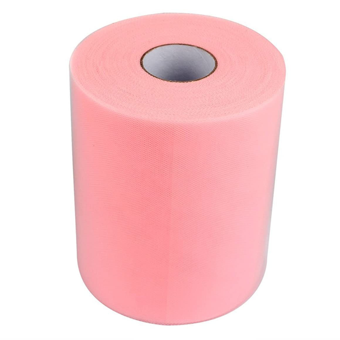 OneD 6 Inch x 100 Yards (300FT) Tulle Roll Spool Tutu Skirt Fabric Wedding Party Gift Bow Craft (Pink)