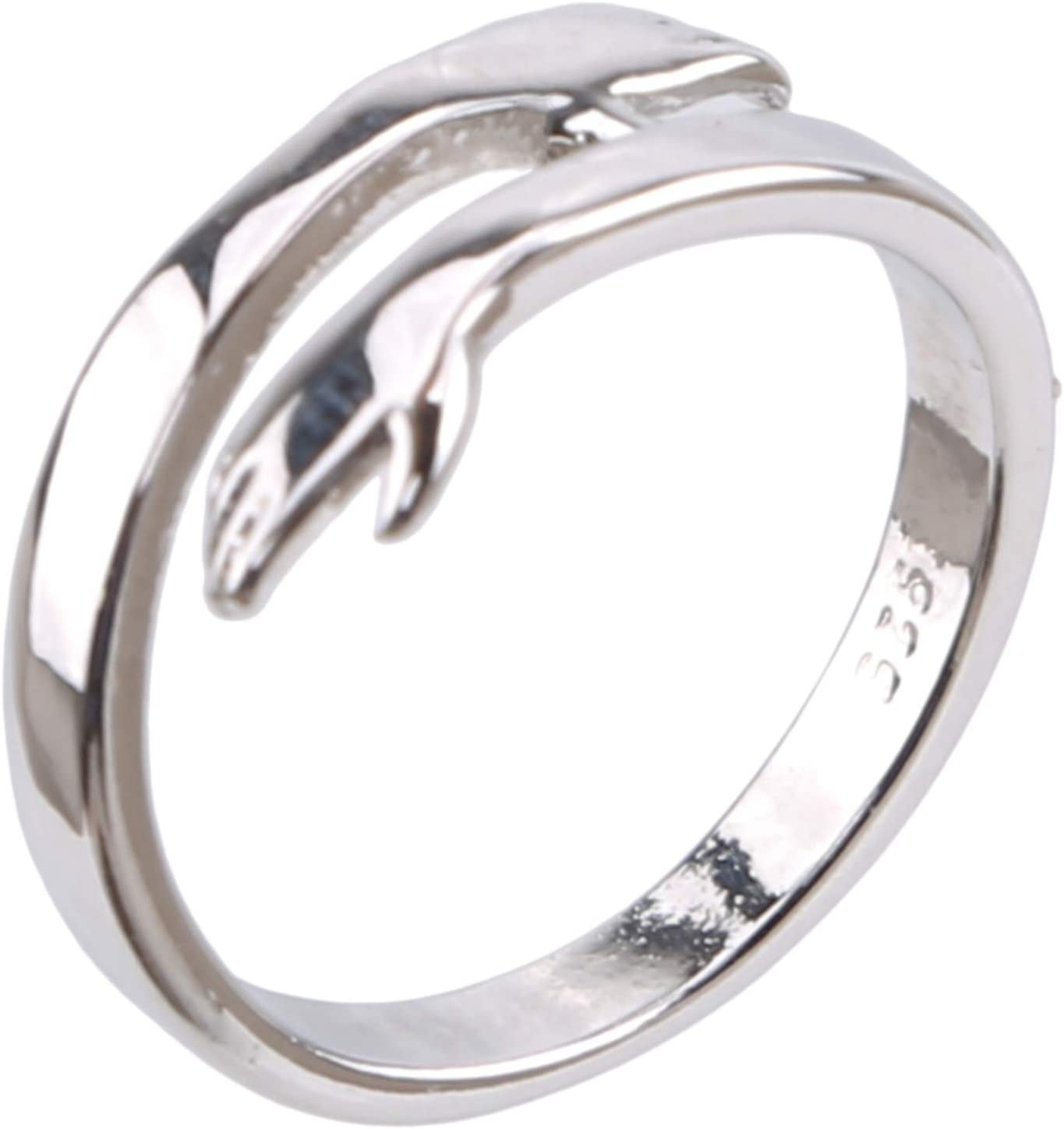 Cngstar Adjustable Embrace Ring Toe Ring Beach Jewelry Gifts for Women Girls