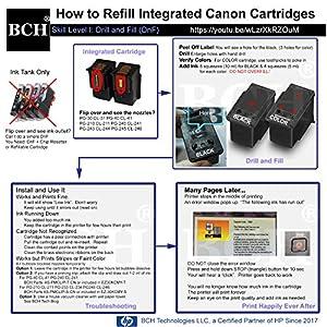 BCH ID30-K3 Refill Ink PG240 PG-243 PG-245 XL Cartridge