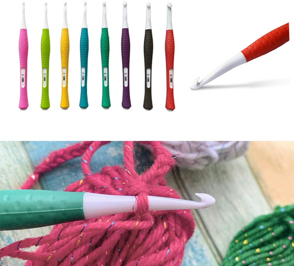 Crochet Needle Hooks for trend rank with Ergonomic Ha Soft NEW before selling ☆ Straight