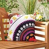 Gardenista Cojín Relleno Resistente al Agua y para Exteriores | Diseño con Patrones Coloridos | Accesorio para Muebles de Jardín| Almohadas Decorativas de | 45 x 45 cm (Flower Pink)