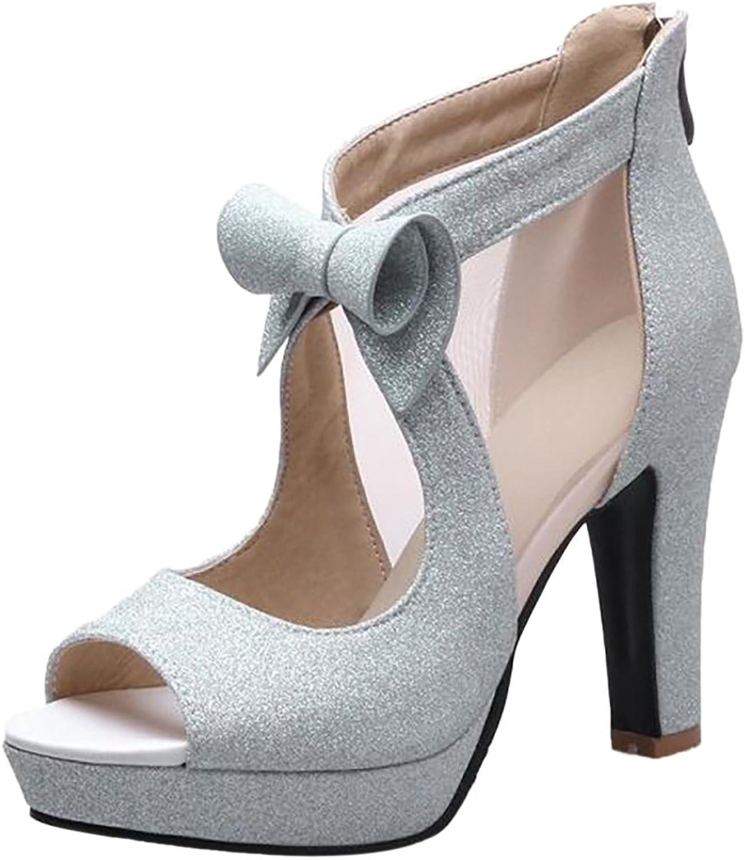 CarziCuzin Women Elegant Peep Toe Sandals