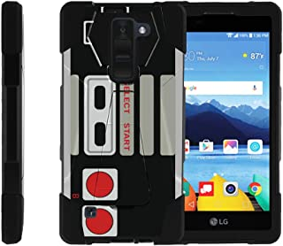 MINITURTLE Compatible with LG K8V Case, LG K8 V Case from Verizon (VS550) [Shock Fusion] Dual Layer Bump and Drop Protection Case w/Built in Stand Retro Controller
