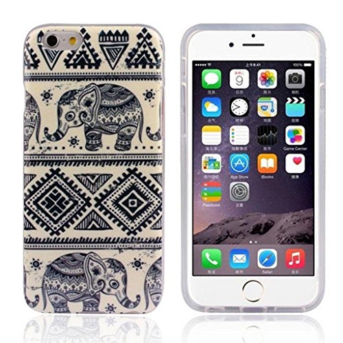 Generic White Totem Elephant Clear Bumper TPU Soft Case Rubber Silicone Skin Cover for Iphone 5c
