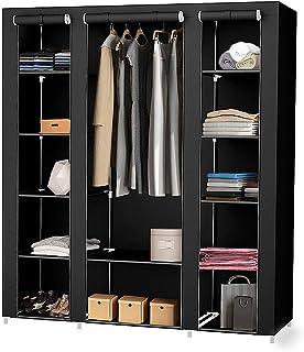 MUPAI Armoire de Rangement Garde-Robe, Penderie Dressing en Tissu Non-tissé, pour Objets Personnels, Vêtements, Chaussure...
