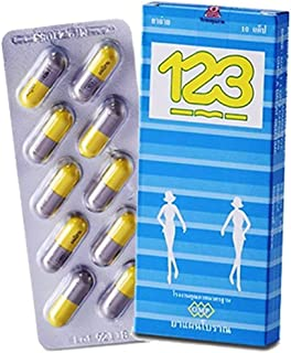 123 Natural Herbal Laxative (1 X 10 Capsules Pack Size) Made From Natural Herb By the Tradional Textbook, Smooth and Safe for Experience Occasional Constipation