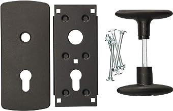 KOTARBAU® Garagedeurgreep 76 x 173 mm montageelementen deurgreepgarnituur vergrendelgreep deurgreepset met schild garagede...