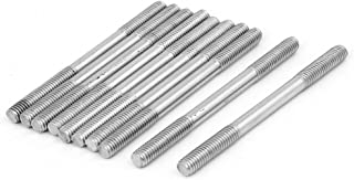 uxcell M6x80mm 304 Stainless Steel Double End Threaded Stud Screw Bolt 10pcs