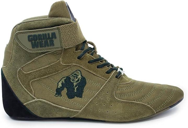 Scarpe bodybuilding gorilla wear scarpe fitness uomo -perry high tops-bodybuilding shoes sportive da palestra 8719497597949