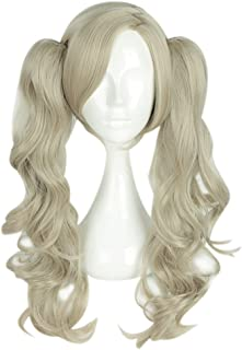 Persona 5 Ann Anne Takamaki Shujin Flaxen 2 Ponytails Long Wavy Cosplay Full Wig