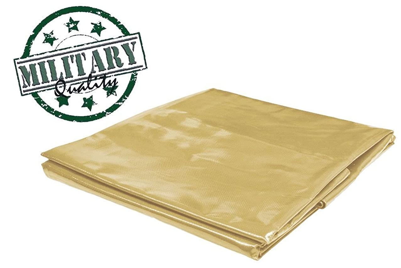 PVC Vinyl Cover Waterproof UV Resistant Heavy Duty Vinyl Tarp 13oz 18 Mil -TAN (7x9)