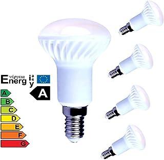 Lampaous - Juego de 4 bombillas LED R50 de 5 W, E14, cerámica, 400 lm, luz blanca fría, 6000 K