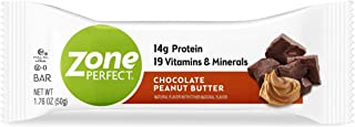ZonePerfect Protein Bars, Chocolate Peanut Butter, 14g of Protein, Nutrition Bars With Vitamins & Minerals, Great Taste Gu...