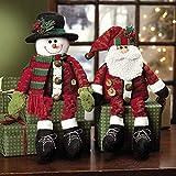 Fun Express Dangle-Leg Santa & Snowman - Party Decorations & Room Decor