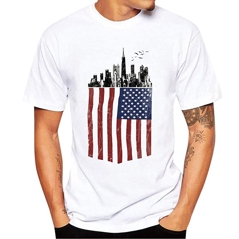 Men's Graphic T-Shirt Americana Collection Us of America Flag T-Shirt USA Flag Shirts Stars Stripes TopsLondony?