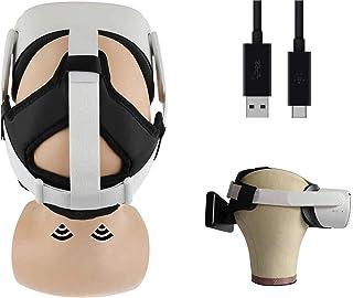 3-i-1 vadderat pannband med magnet Power Bank Dock och motvikt för The Oculus Quest 2