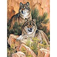大人のための4000ピースパズル-2匹のオオカミジグソーパズル