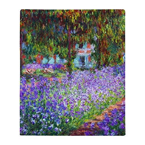 "CafePress Waterlilies by Claude Monet Throw Blanket Soft Fleece Throw Blanket, 50""x60"" Stadium Blanket"