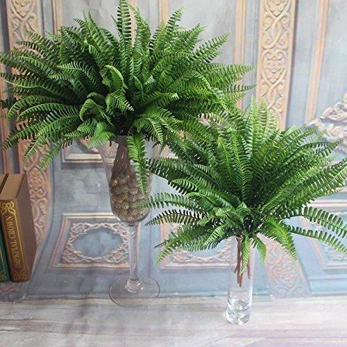 Sungpunet 7 Artificielle réaliste Grande Soie Boston Fougère Plante Herbe Verte Décoration de la Maison