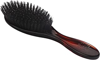 Bass Brushes   Shine & Condition Hair Brush   100% Premium Natural Bristle FIRM   High Polish Acrylic Handle   Full Oval   Tortoise Shell Finish   Model 876S - TSL