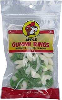 Buc-ee's Apple Flavored Gummi Rings in a Resealable Bag, 12 Ounces