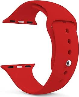 Microsonic 21270 Apple Watch Series 5 44mm Silikon Kordon Kırmızı