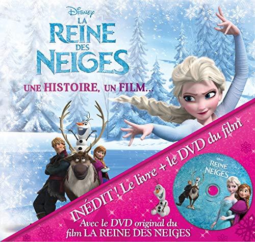 LA REINE DES NEIGES - Une histoire, un film - Livre DVD - Disney