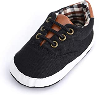 Baby Boys Girls Canvas Shoes Premium Soft Sole Infant Basic Sneakers Toddler First Walkers
