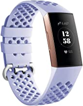 AmzAokay Compatible for Fitbit Charge 3, Classic Loop Soft Silicone Watch Band Strap Replacement Accessory Wristbands for Fitbit Charge 3 & Charge 3 SE Medium Small for Women Men