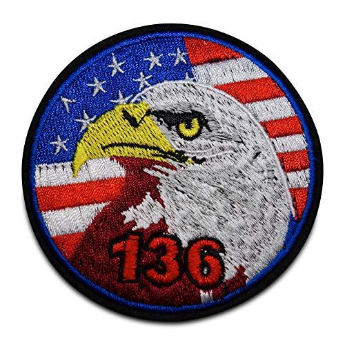 Finally Home Usa Flagge mit Adler Bügelbild Patch zum Aufbügeln | Patches, Aufbügelmotive