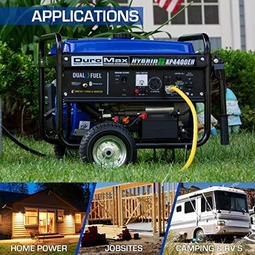 DuroMax XP4400EH 4400 watt Dual Fuel Hybrid generator with Electric Start