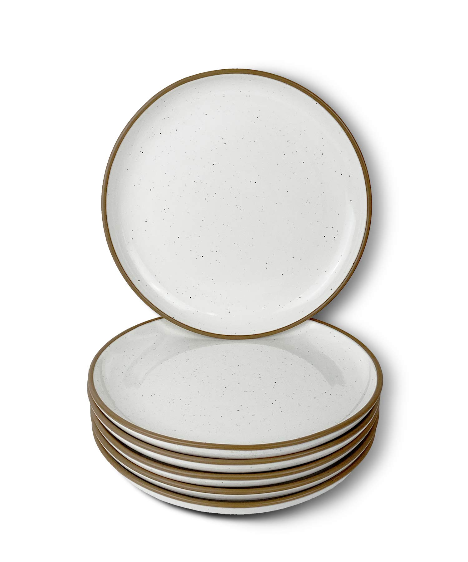 Amazon Com Mora Ceramic Plates Set 7 8 In Set Of 6 The Dessert Salad Appetizer Small Dinner Etc Plate Microwave Oven And Dishwasher Safe Scratch Resistant Kitchen Porcelain Dish Vanilla White Dinner Plates