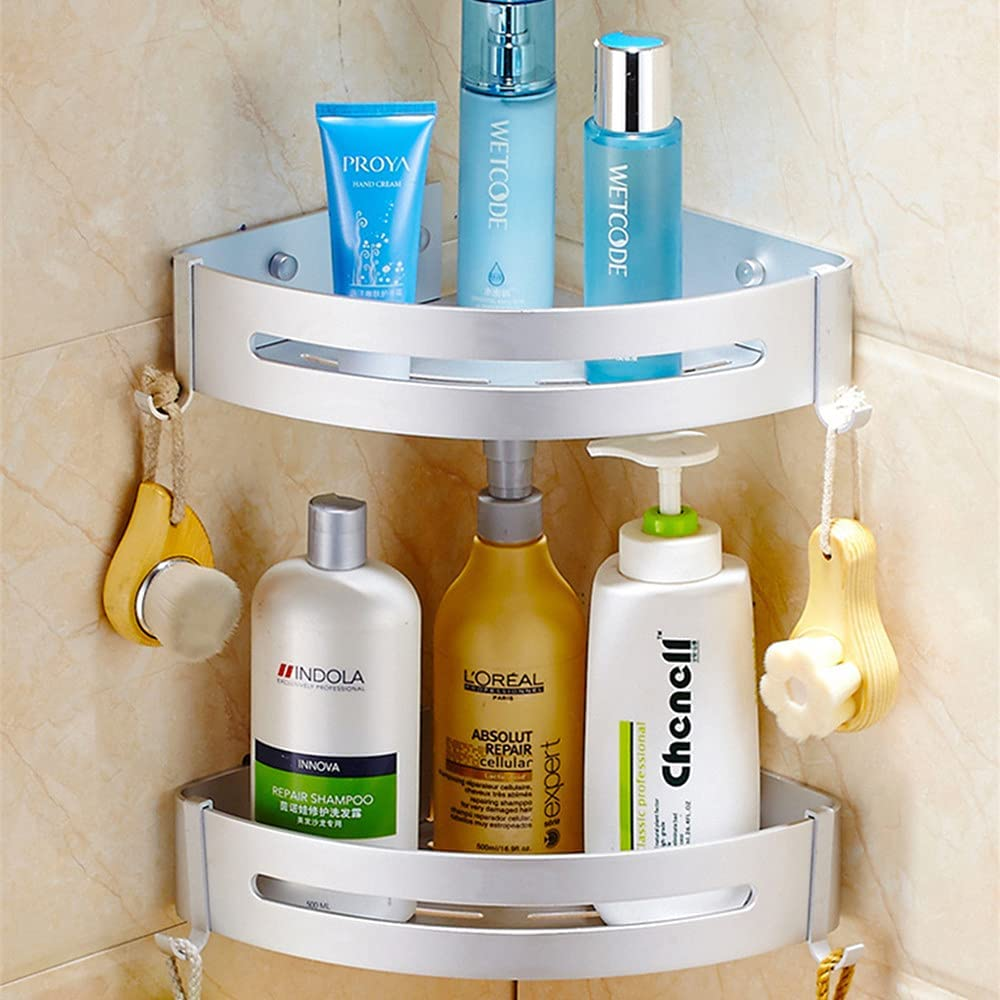 Corner Shower Caddy Japan Maker New 2 Tiers Bathroom Wall All stores are sold Shelves Mou Triangle